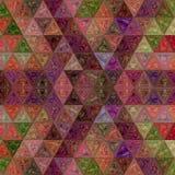 Modello di mosaico del triangolo della rappezzatura con effetto di vetro macchiato immagini stock libere da diritti