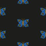 Modello di mosaico della farfalla Immagine Stock Libera da Diritti