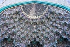 Modello di mosaico della moschea dell'imam in Esfahan Fotografie Stock Libere da Diritti