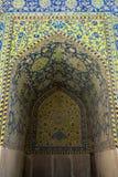 Modello di mosaico della moschea dell'imam in Esfahan Fotografia Stock Libera da Diritti