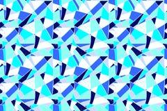 Modello di mosaico delle mattonelle rotte Modello disegnato a mano senza cuciture con gli indicatori Tendenza dello stile di Memp Fotografia Stock Libera da Diritti