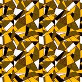 Modello di mosaico delle mattonelle rotte Modello disegnato a mano senza cuciture con gli indicatori Tendenza dello stile di Memp Fotografia Stock
