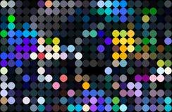 Modello di mosaico nero blu giallo Luci al neon Priorit? bassa astratta geometrica illustrazione di stock