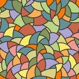 Modello di mosaico senza cuciture di vettore di poligonale Fotografie Stock