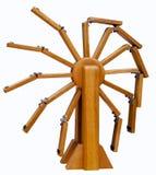 Modello di moto perpetuo di legno fotografie stock libere da diritti