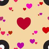 Modello di musica di amore Illustrazione Vettoriale