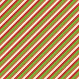 Modello di Natale verde rosso e marrone Immagini Stock