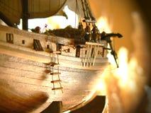 Modello di nave di legno Fotografia Stock