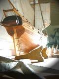 Modello di nave di legno Fotografia Stock Libera da Diritti