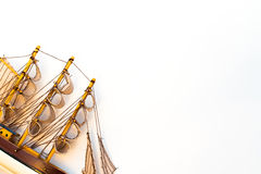 Modello di nave isolato su fondo bianco Immagine Stock