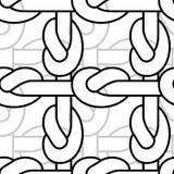 Modello di nodo della corda Ornamento legato della cordicella Struttura del tessuto Fotografie Stock Libere da Diritti