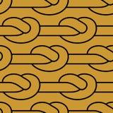 Modello di nodo della corda Ornamento legato della cordicella Struttura del tessuto illustrazione vettoriale