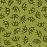 Modello di occhi verdi dell'acquerello su fondo verde illustrazione di stock