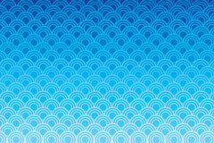 Modello di onda blu del cerchio Fotografia Stock Libera da Diritti