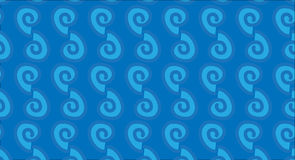 Modello di onda tribale hawaiano astratto moderno semplice Immagine Stock