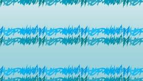Modello di onde blu astratto moderno semplice di zigzag Immagini Stock