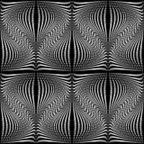 Modello di ondeggiamento monocromatico senza cuciture di progettazione Fotografie Stock