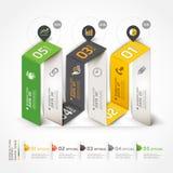 Modello di origami di infographics di affari della scala. Fotografia Stock