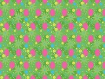 Modello di Pasqua - fondo verde Fotografia Stock