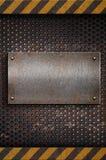 Modello di piastra metallica Fotografie Stock