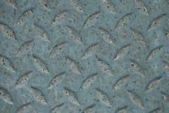Modello di piastra metallica di struttura del vecchio diamante arrugginito usato come b astratta Immagine Stock Libera da Diritti