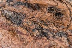 Modello di pietra di struttura del fondo della roccia immagine stock