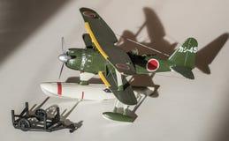 Modello di plastica dell'aeroplano montato Fotografie Stock Libere da Diritti