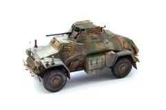 Modello di plastica di un'autoblindata tedesca Immagine Stock Libera da Diritti