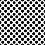 Modello di pois nero senza cuciture su bianco Illustrazione di vettore Fotografie Stock Libere da Diritti