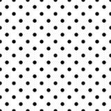 Modello di pois nero senza cuciture su bianco Illustrazione di vettore Immagini Stock Libere da Diritti