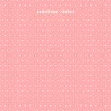Modello di pois senza cuciture su fondo rosa, vettore Fotografie Stock Libere da Diritti
