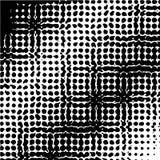 Modello di Pop art, struttura Reticolo di puntino di semitono monocromatico Illustrazione di vettore illustrazione vettoriale