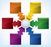 Modello di presentazione illustrazione di stock