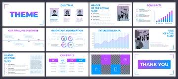 Modello di presentazione di affari con il ele viola e blu di pendenza illustrazione vettoriale