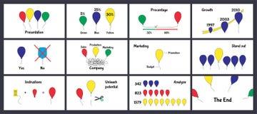 Modello di presentazione di affari su fondo bianco illustrazione di stock