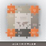 Modello di presentazione con i pezzi collegati del puzzel royalty illustrazione gratis