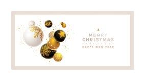 Modello di progettazione del buon anno e di Buon Natale Fotografia Stock Libera da Diritti