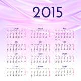 Modello di progettazione del calendario 2015 Fotografie Stock