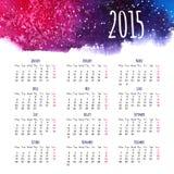 Modello di progettazione del calendario 2015 Immagine Stock