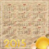 Modello di progettazione del calendario 2015 Fotografia Stock