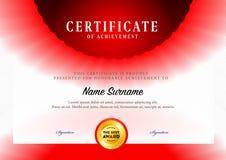 Modello di progettazione del certificato Immagine Stock