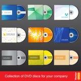 Modello di progettazione del dvd o del CD per la presentazione della società Fotografia Stock
