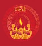 Modello di progettazione del fondo di Diwali di vettore Fotografia Stock