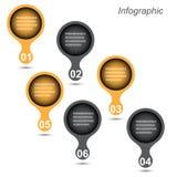modello di progettazione del Informazione-grafico fotografia stock libera da diritti