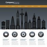 Modello di progettazione del sito Web della città illustrazione di stock