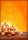Modello di progettazione dell'aletta di filatoio di Halloween, con la zucca Fotografia Stock Libera da Diritti