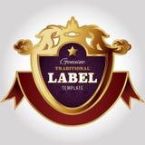 Modello di progettazione dell'etichetta Immagine Stock