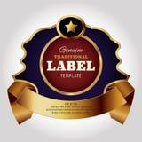 Modello di progettazione dell'etichetta Fotografia Stock Libera da Diritti