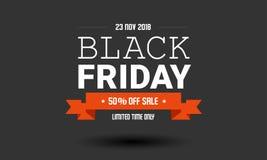 Modello di progettazione dell'etichetta di vendita di Black Friday immagini stock libere da diritti