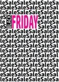 Modello di progettazione dell'iscrizione di vendita di Black Friday Fotografia Stock